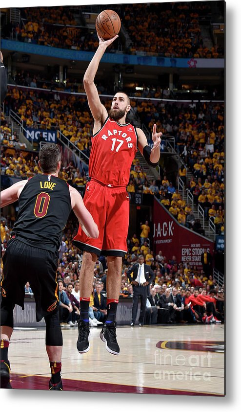Playoffs Metal Print featuring the photograph Toronto Raptors V Cleveland Cavaliers - by David Liam Kyle