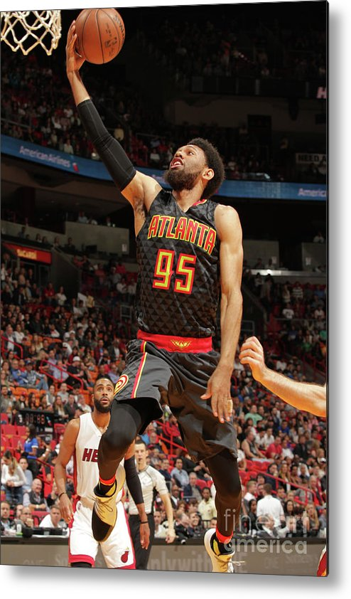 Nba Pro Basketball Metal Print featuring the photograph Atlanta Hawks V Miami Heat by Oscar Baldizon