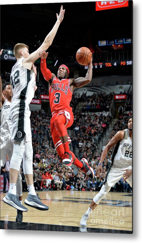 Nba Pro Basketball Metal Print featuring the photograph Chicago Bulls V San Antonio Spurs by Mark Sobhani