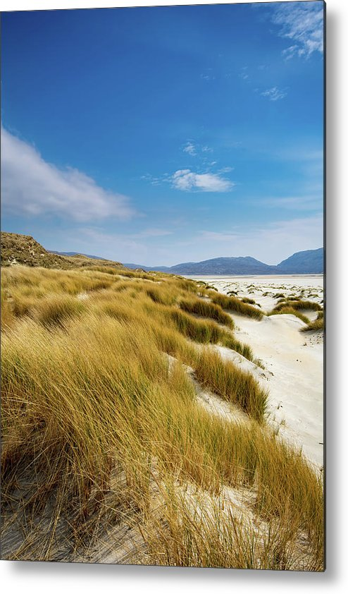 Luskentyre Beach Metal Print featuring the mixed media Luskentyre by Smart Aviation