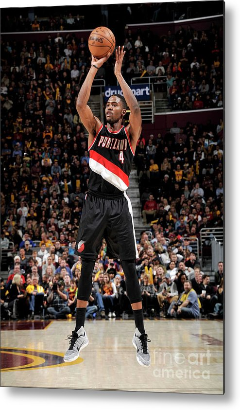 Moe Harkless Metal Print featuring the photograph Portland Trail Blazers V Cleveland by David Liam Kyle