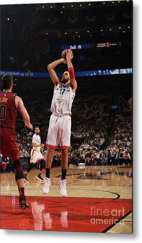 Playoffs Metal Print featuring the photograph Cleveland Cavaliers V Toronto Raptors - by Ron Turenne