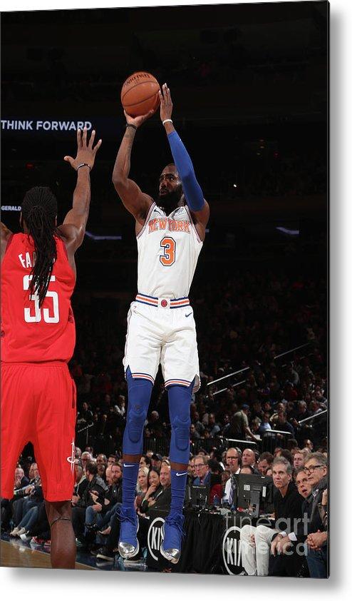 Tim Hardaway Jr. Metal Print featuring the photograph Houston Rockets V New York Knicks by Nathaniel S. Butler