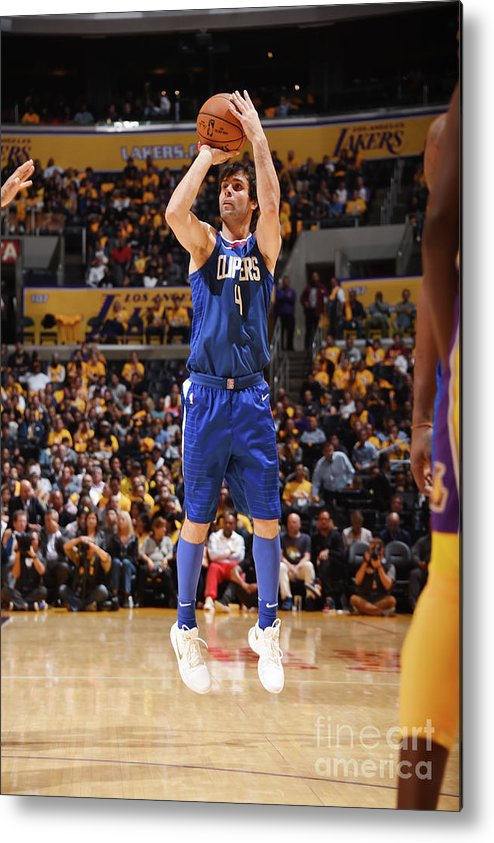 Nba Pro Basketball Metal Print featuring the photograph La Clippers V Los Angeles Lakers by Andrew D. Bernstein