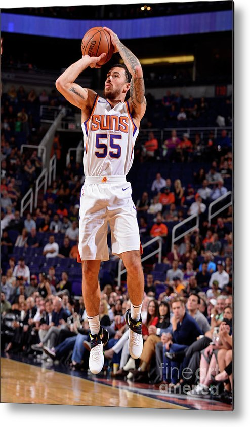 Nba Pro Basketball Metal Print featuring the photograph Sacramento Kings V Phoenix Suns by Barry Gossage
