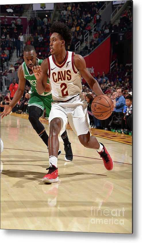 Nba Pro Basketball Metal Print featuring the photograph Boston Celtics V Cleveland Cavaliers by David Liam Kyle