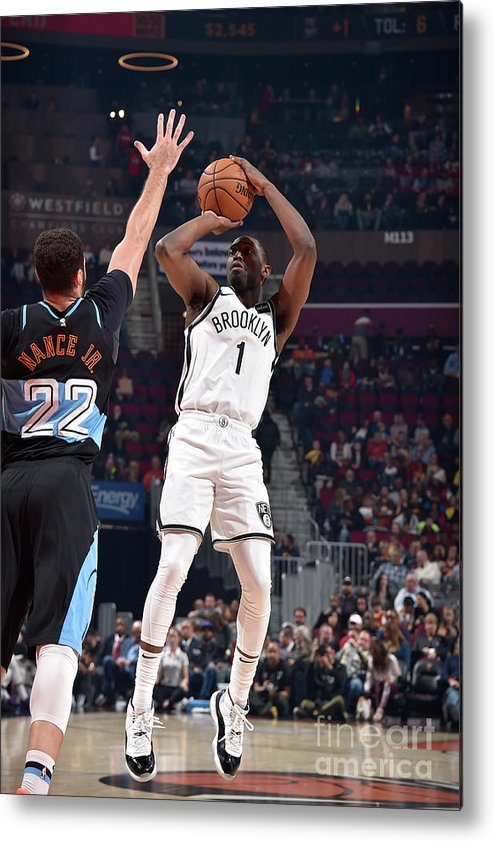 Nba Pro Basketball Metal Print featuring the photograph Brooklyn Nets V Cleveland Cavaliers by David Liam Kyle