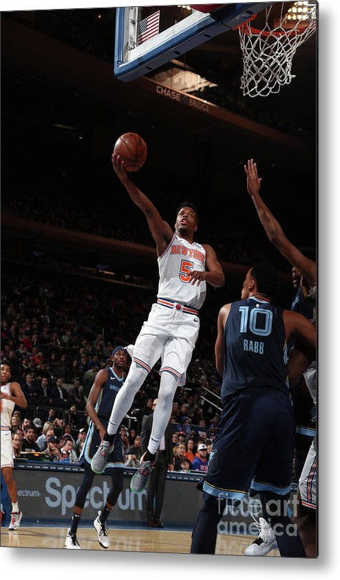 Nba Pro Basketball Metal Print featuring the photograph Memphis Grizzlies V New York Knicks by Nathaniel S. Butler