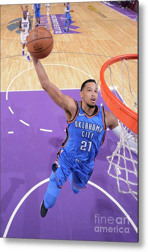 Nba Pro Basketball Metal Print featuring the photograph Oklahoma City Thunder V Sacramento Kings by Rocky Widner