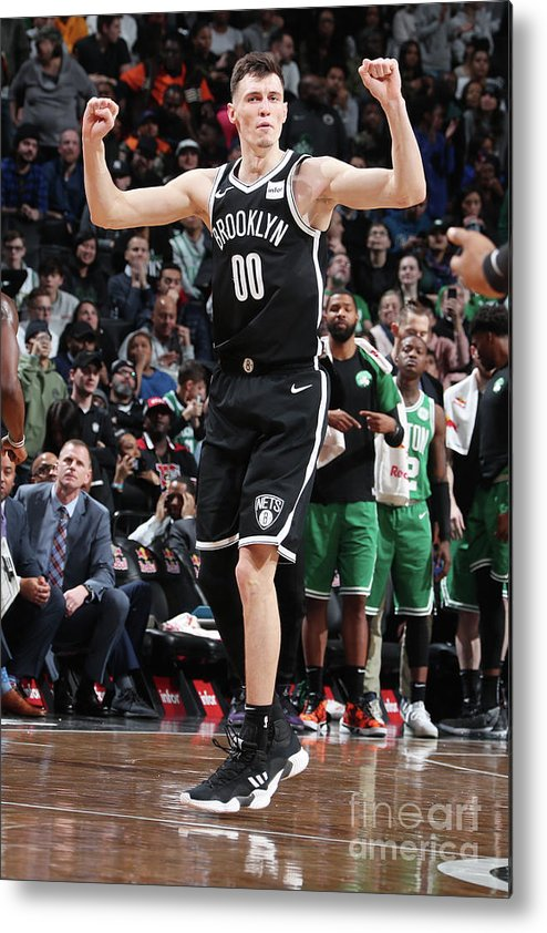 Nba Pro Basketball Metal Print featuring the photograph Boston Celtics V Brooklyn Nets by Nathaniel S. Butler