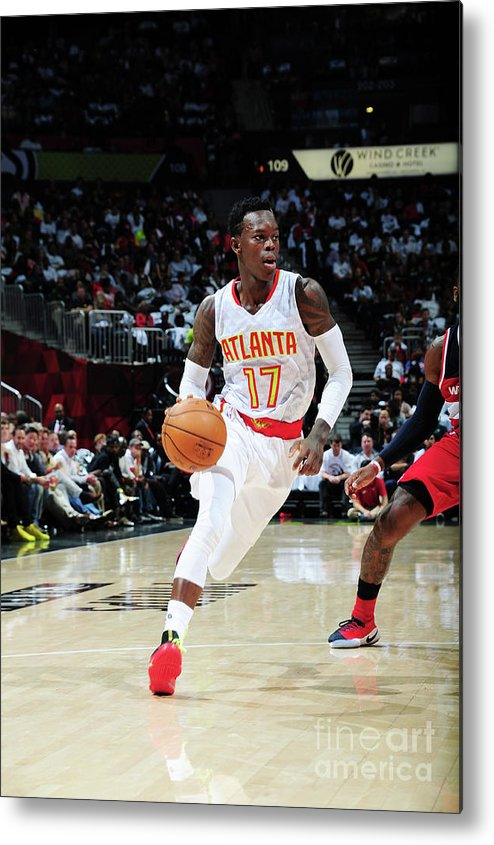 Atlanta Metal Print featuring the photograph Washington Wizards V Atlanta Hawks by Scott Cunningham