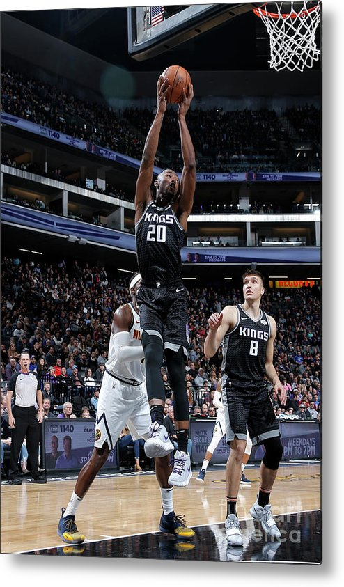 Nba Pro Basketball Metal Print featuring the photograph Denver Nuggets V Sacramento Kings by Rocky Widner