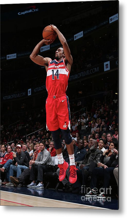 Nba Pro Basketball Metal Print featuring the photograph Minnesota Timberwolves V Washington by Ned Dishman
