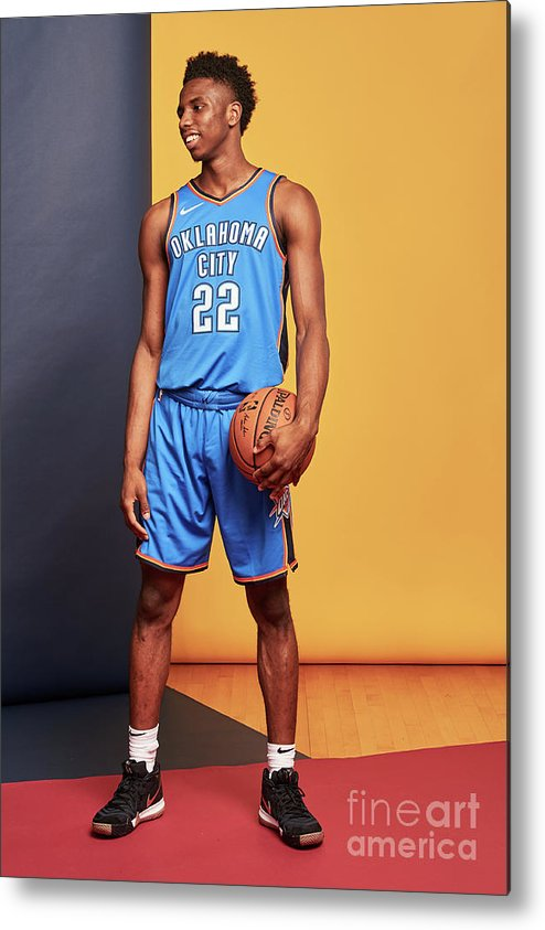 Nba Pro Basketball Metal Print featuring the photograph 2018 Nba Rookie Photo Shoot by Jennifer Pottheiser