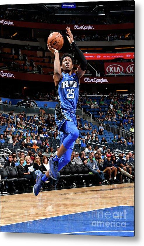 Nba Pro Basketball Metal Print featuring the photograph Boston Celtics V Orlando Magic by Fernando Medina