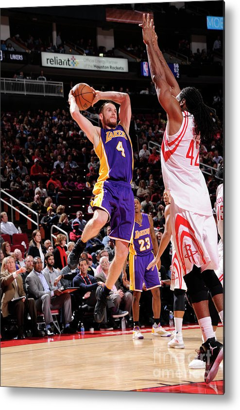 Nba Pro Basketball Metal Print featuring the photograph Los Angeles Lakers V Houston Rockets by Bill Baptist