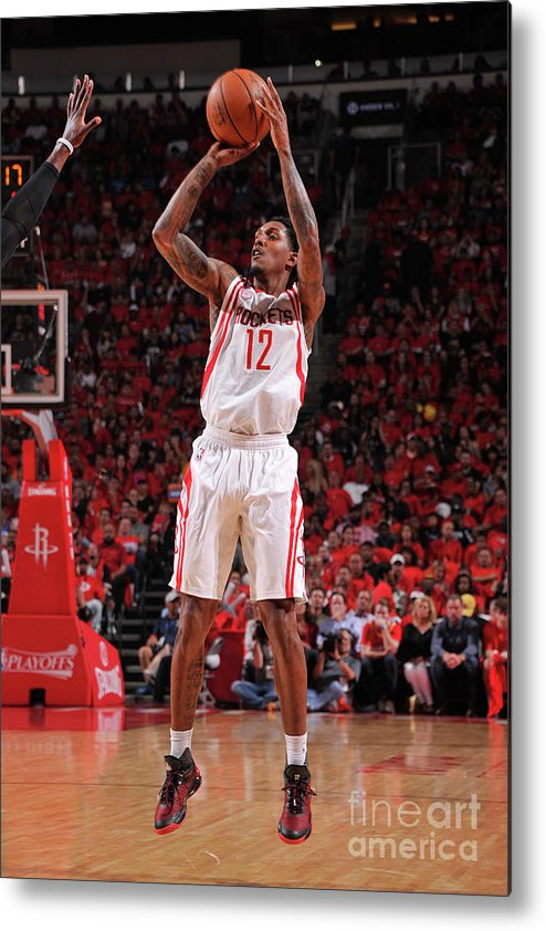 Playoffs Metal Print featuring the photograph Oklahoma City Thunder V Houston Rockets by Bill Baptist