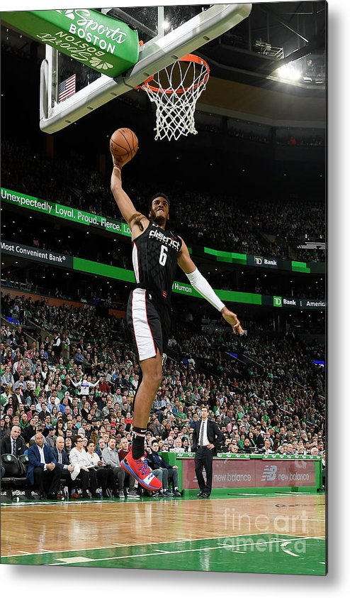 Nba Pro Basketball Metal Print featuring the photograph Washington Wizards V Boston Celtics by Brian Babineau