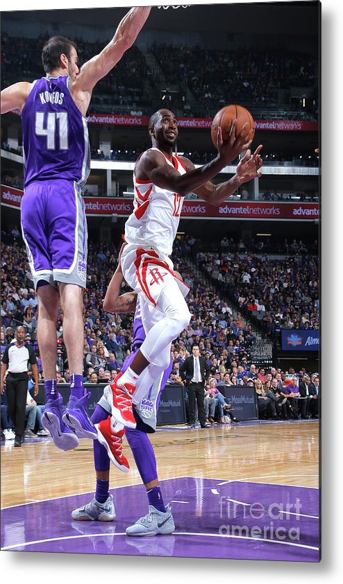 Nba Pro Basketball Metal Print featuring the photograph Houston Rockets V Sacramento Kings by Rocky Widner