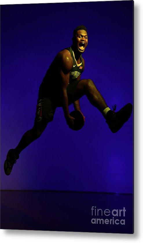 Nba Pro Basketball Metal Print featuring the photograph 2019 Nba Rookie Photo Shoot by Jesse D. Garrabrant