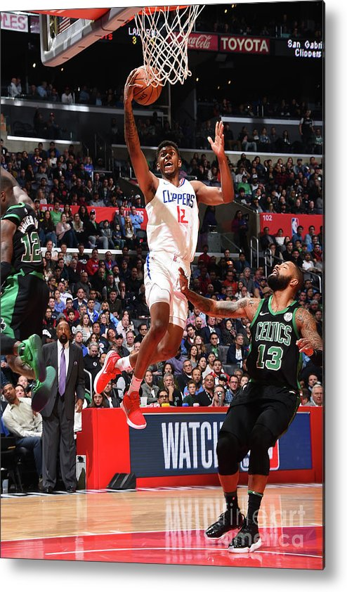 Nba Pro Basketball Metal Print featuring the photograph Boston Celtics V La Clippers by Andrew D. Bernstein