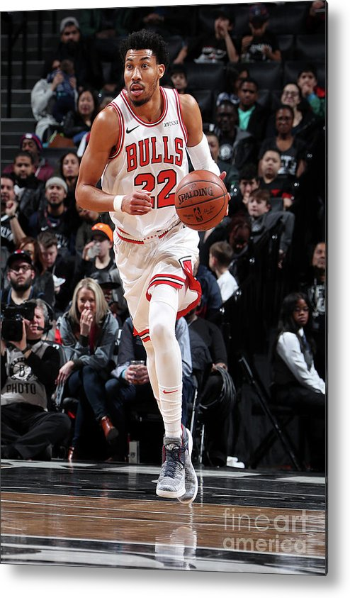 Chicago Bulls Metal Print featuring the photograph Chicago Bulls V Brooklyn Nets by Nathaniel S. Butler