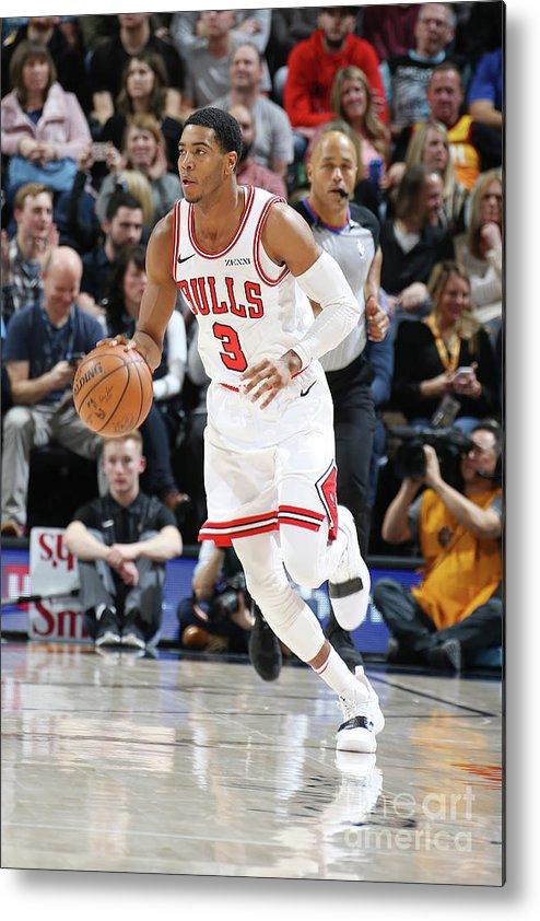 Nba Pro Basketball Metal Print featuring the photograph Chicago Bulls V Utah Jazz by Melissa Majchrzak