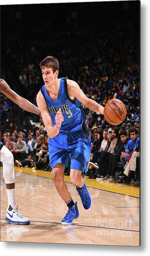 Nba Pro Basketball Metal Print featuring the photograph Dallas Mavericks V Golden State Warriors by Noah Graham