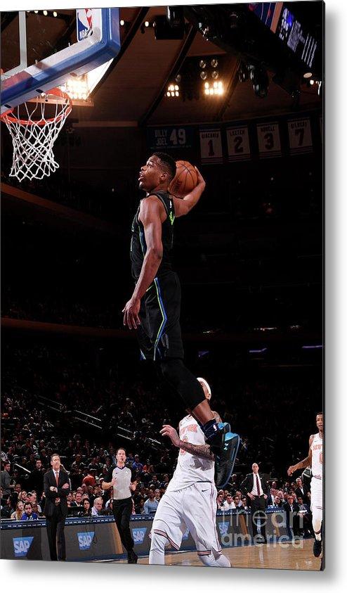 Sports Ball Metal Print featuring the photograph Dallas Mavericks V New York Knicks by Nba Photos