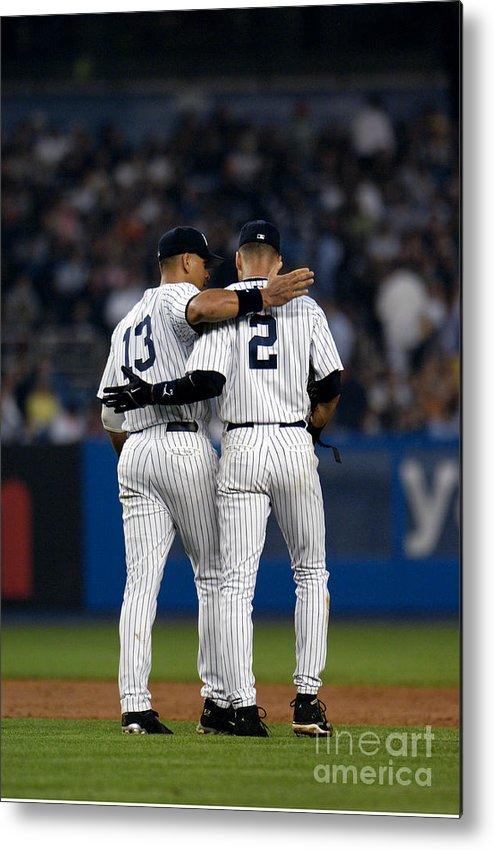 American League Baseball Metal Print featuring the photograph Derek Jeter by New York Daily News