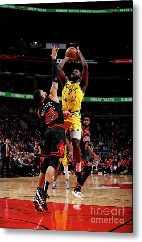 Chicago Bulls Metal Print featuring the photograph Golden State Warriors V Chicago Bulls by Jeff Haynes