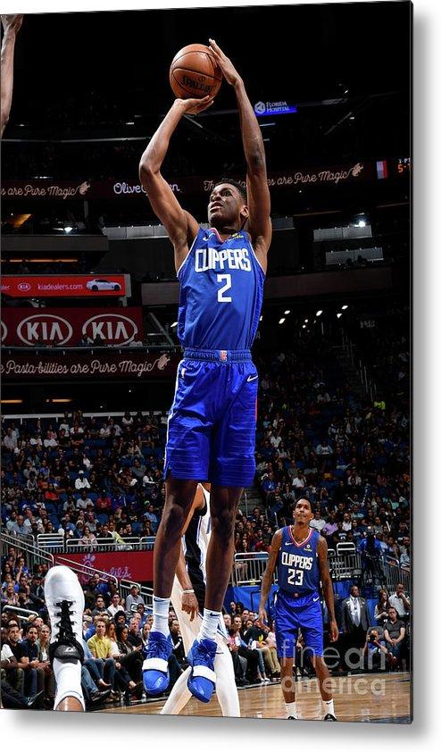 Nba Pro Basketball Metal Print featuring the photograph La Clippers V Orlando Magic by Fernando Medina