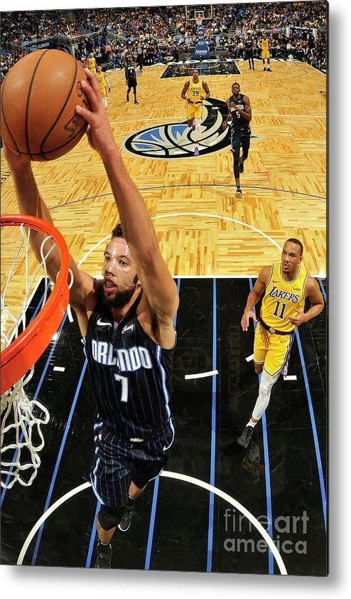 Nba Pro Basketball Metal Print featuring the photograph Los Angeles Lakers V Orlando Magic by Fernando Medina