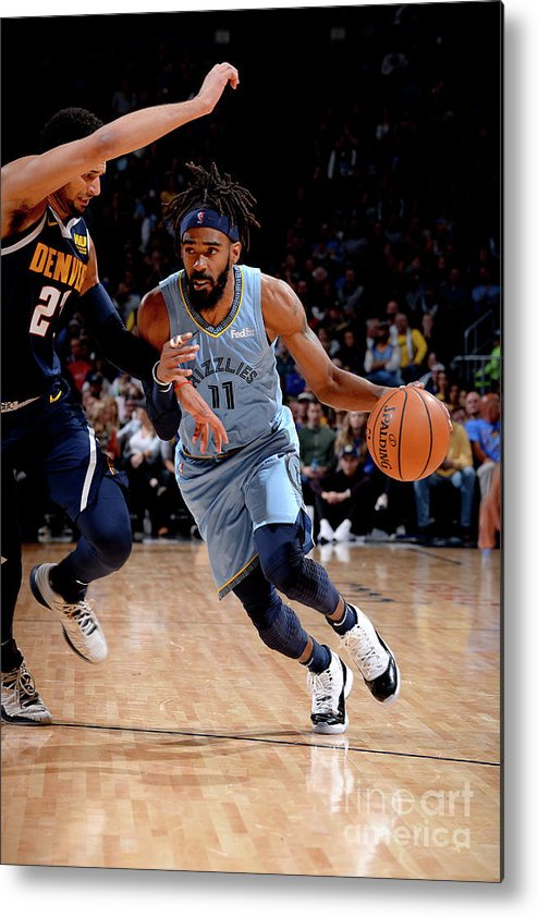 Nba Pro Basketball Metal Print featuring the photograph Memphis Grizzlies V Denver Nuggets by Bart Young