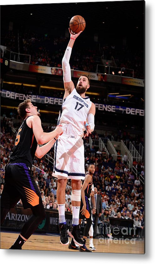 Nba Pro Basketball Metal Print featuring the photograph Memphis Grizzlies V Phoenix Suns by Barry Gossage