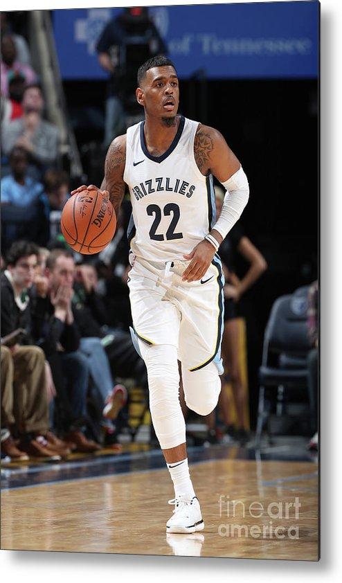 Nba Pro Basketball Metal Print featuring the photograph Milwaukee Bucks V Memphis Grizzlies by Joe Murphy