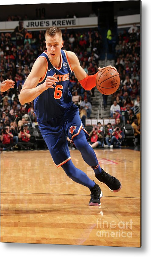 Smoothie King Center Metal Print featuring the photograph New York Knicks V New Orleans Pelicans by Layne Murdoch
