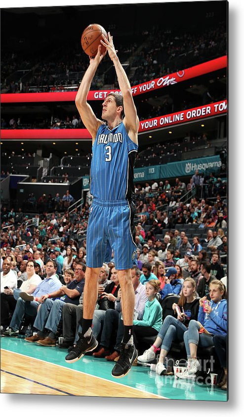 Nba Pro Basketball Metal Print featuring the photograph Orlando Magic V Charlotte Hornets by Kent Smith