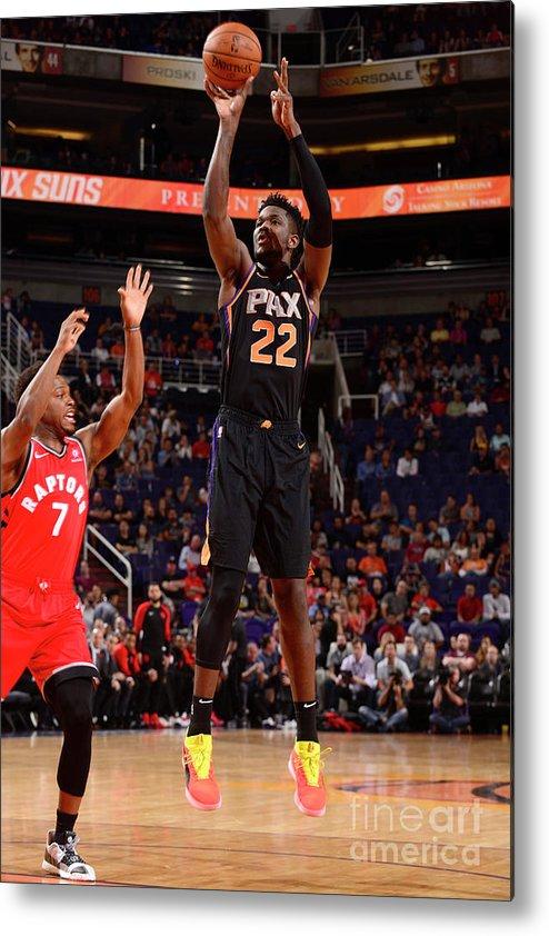 Nba Pro Basketball Metal Print featuring the photograph Toronto Raptors V Phoenix Suns by Barry Gossage