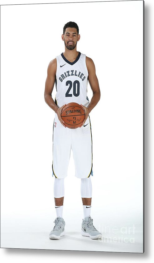 Media Day Metal Print featuring the photograph 2017-2018 Memphis Grizzlies Media Day by Joe Murphy