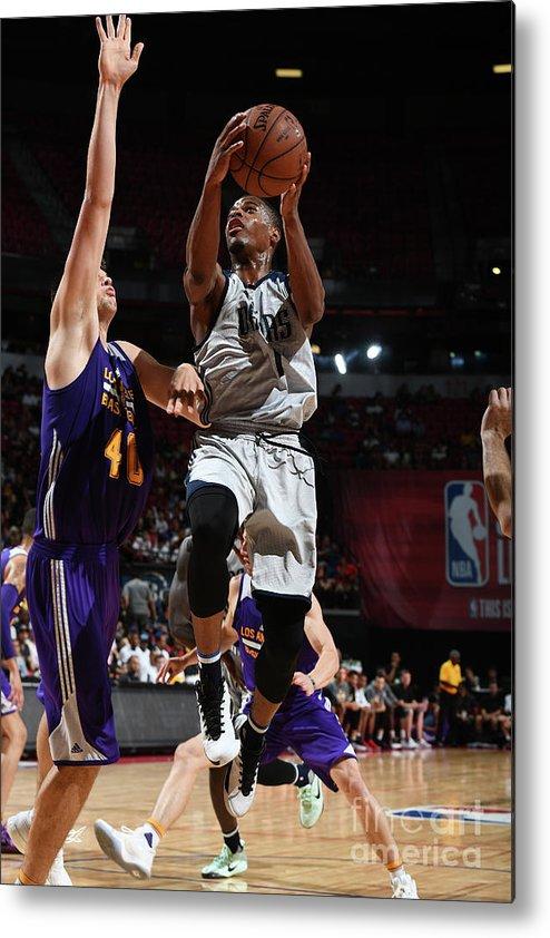 Nba Pro Basketball Metal Print featuring the photograph 2017 Las Vegas Summer League - Dallas by Garrett Ellwood