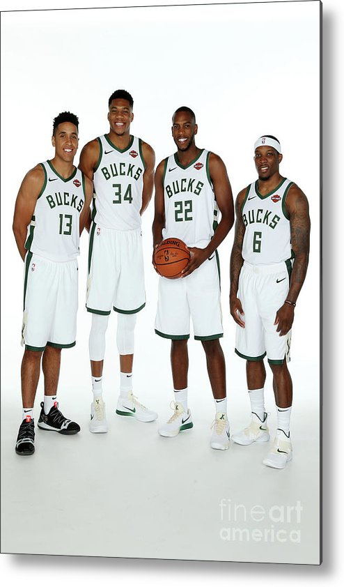 Media Day Metal Print featuring the photograph 2018 Milwaukee Bucks Media Day by Gary Dineen