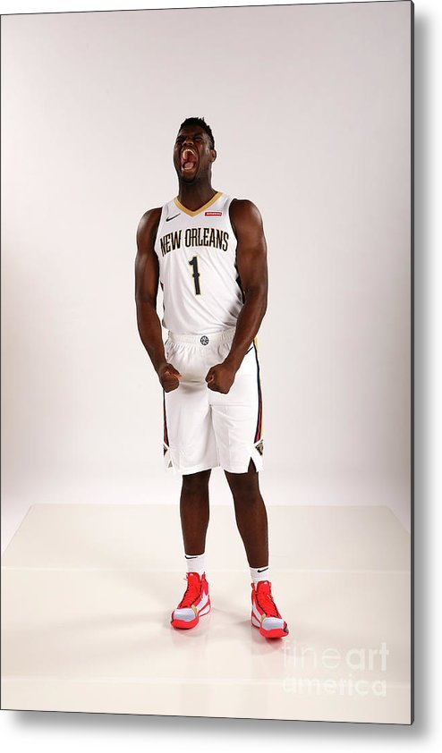 Media Day Metal Print featuring the photograph 2019-20 New Orleans Pelicans Media Day by Layne Murdoch Jr.