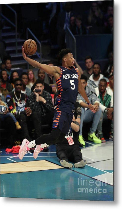 Nba Pro Basketball Metal Print featuring the photograph 2019 At&t Slam Dunk Contest by Joe Murphy