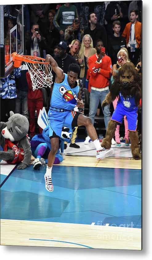 Nba Pro Basketball Metal Print featuring the photograph 2019 At&t Slam Dunk Contest by Juan Ocampo