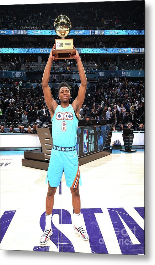 Nba Pro Basketball Metal Print featuring the photograph 2019 At&t Slam Dunk Contest by Nathaniel S. Butler