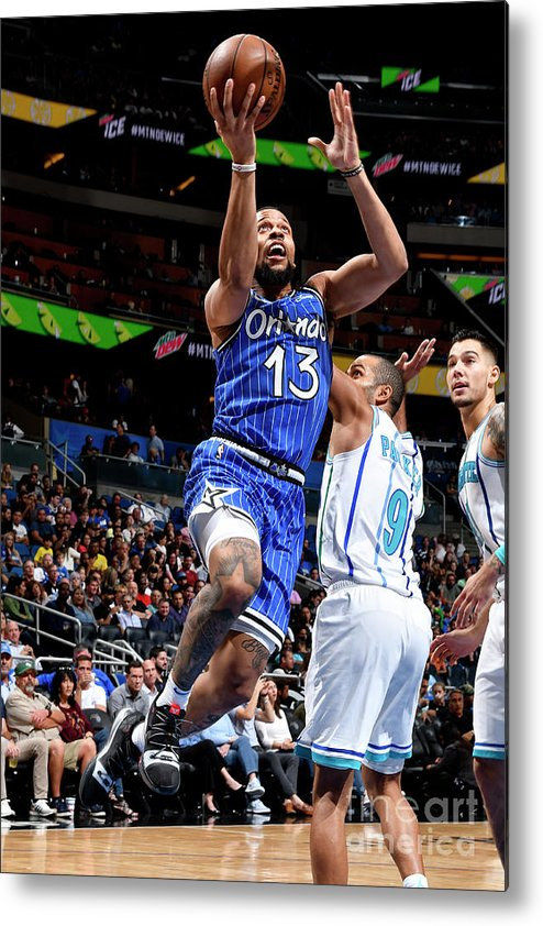 Nba Pro Basketball Metal Print featuring the photograph Charlotte Hornets V Orlando Magic by Fernando Medina