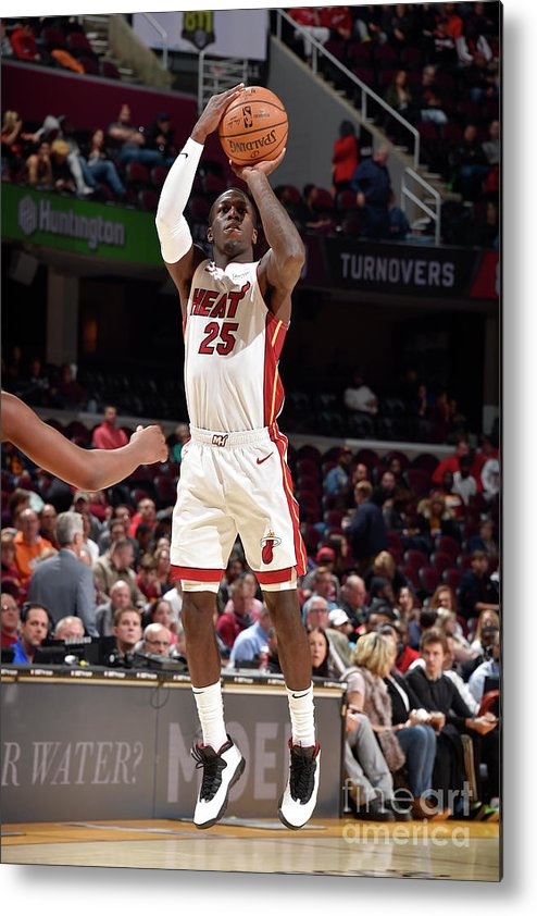 Nba Pro Basketball Metal Print featuring the photograph Miami Heat V Cleveland Cavaliers by David Liam Kyle