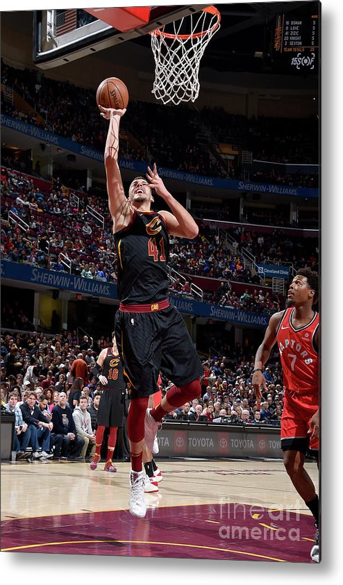 Nba Pro Basketball Metal Print featuring the photograph Toronto Raptors V Cleveland Cavaliers by David Liam Kyle