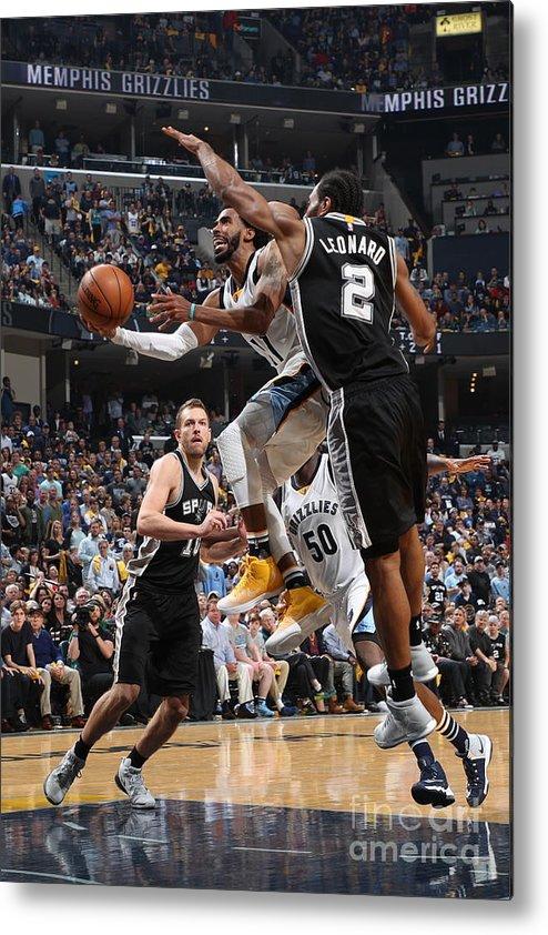 Playoffs Metal Print featuring the photograph San Antonio Spurs V Memphis Grizzlies - by Joe Murphy
